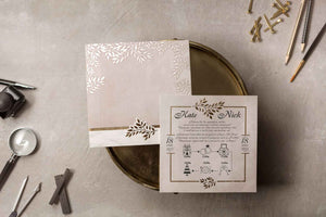 gold floral wedding invitations