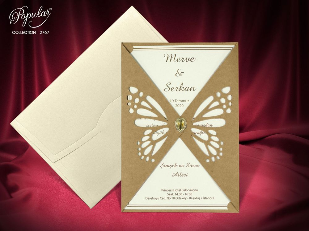 laser cut butterfly wedding invitation - weddingcardsuk.com