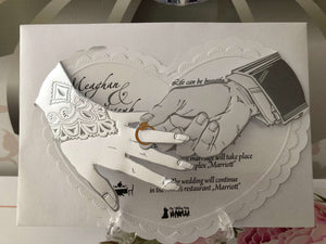 Luxury 3D Wedding Invitations - weddingcardsuk.com
