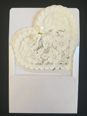 Heart Shaped Wedding Invitations -weddingcardsuk.com