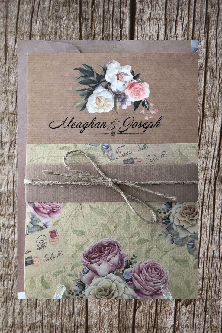 vintage rustic weeding cards uk - weddingcardsuk.com