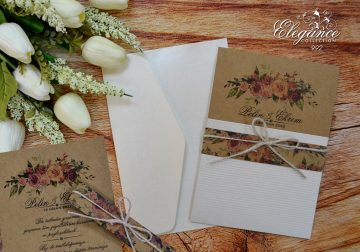 rustic pocket wedding cards - weddingcardsuk.com