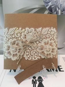 vintage wedding invitation card - weddingcardsuk.com