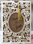 asian laser cut wedding invitation