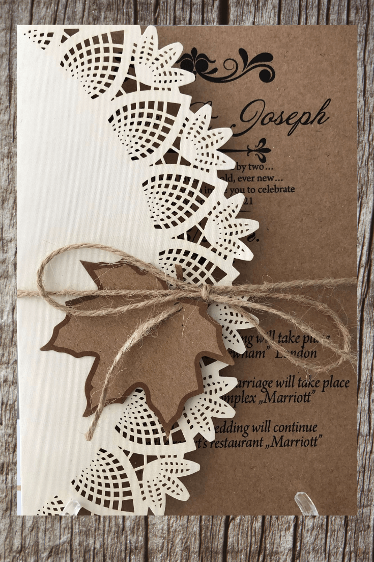 autumn wedding invitations - weddingcardsuk.com