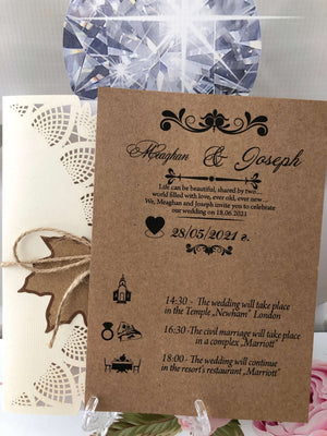autumn wedding invitations uk - weddingcardsuk.com