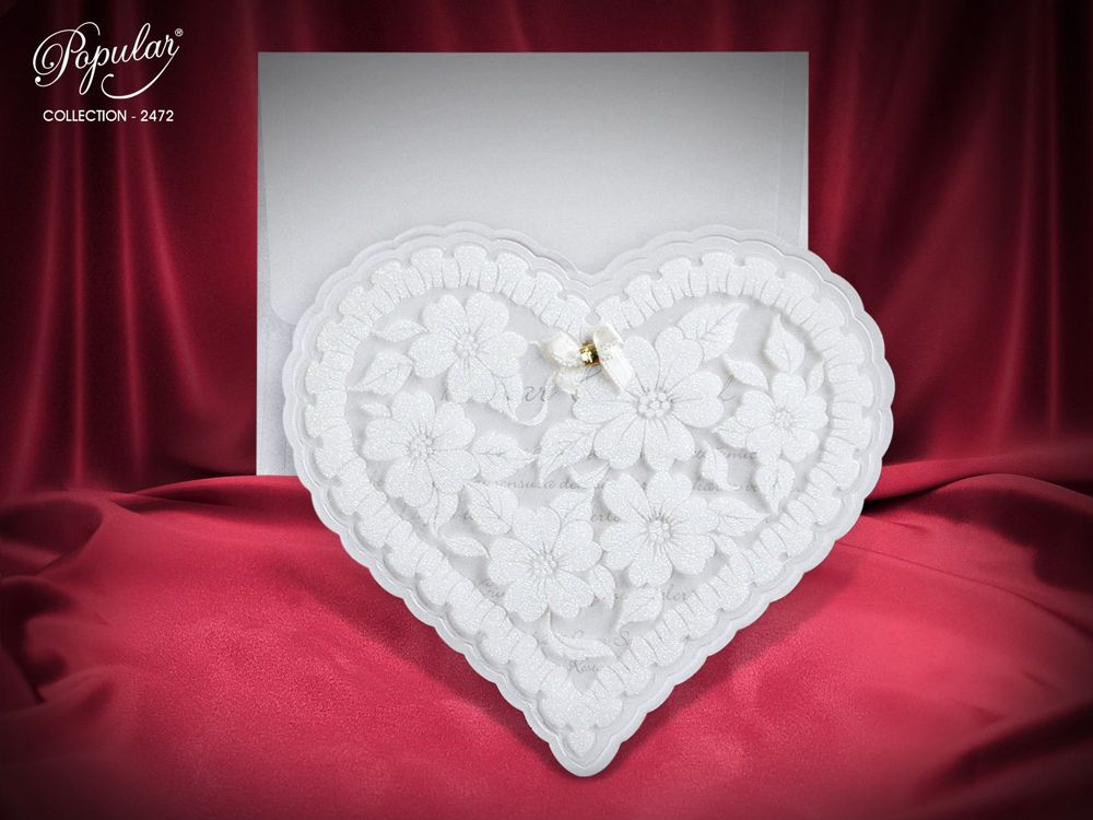 heart shape wedding invitation uk - weddingcardsuk.com