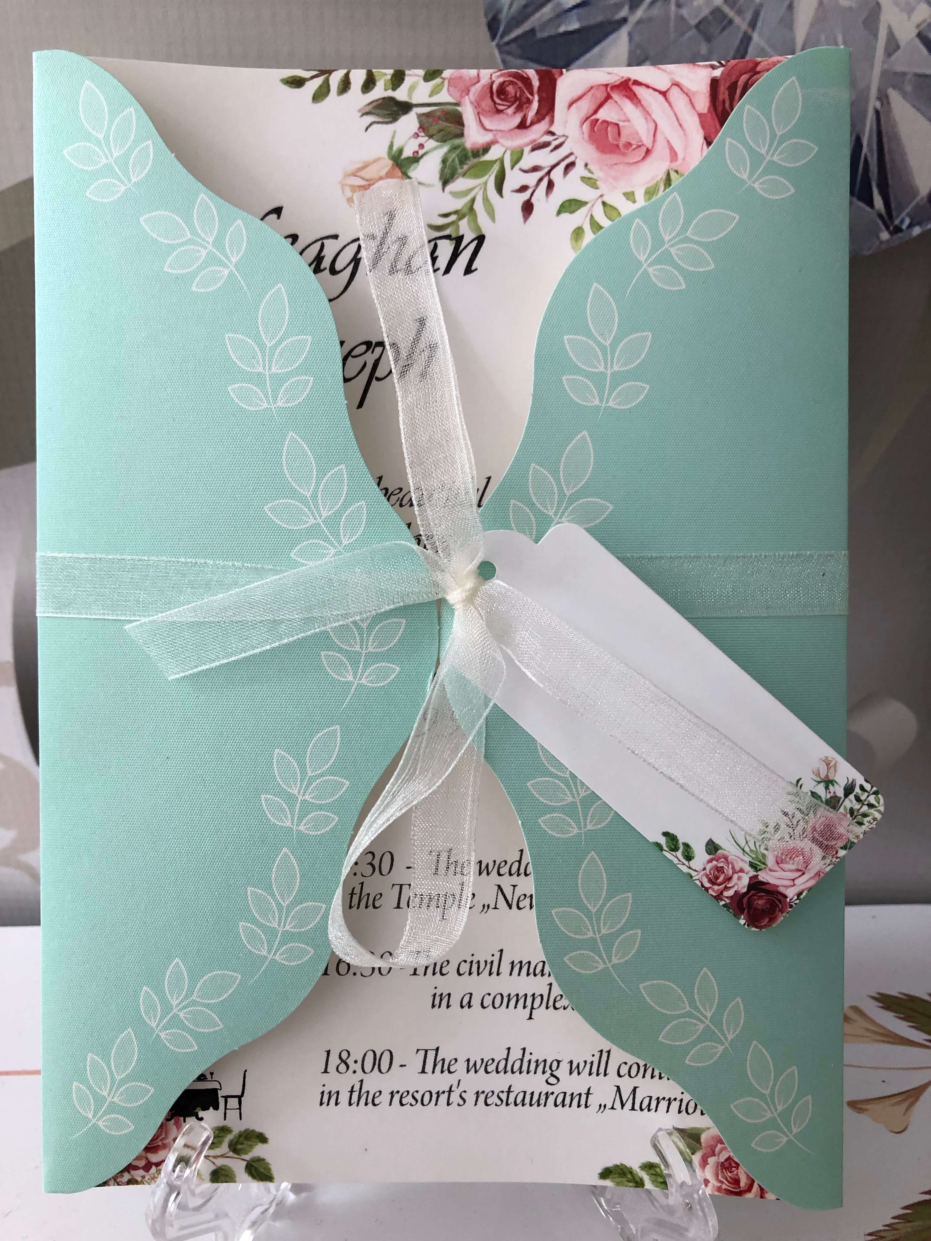 mint green wedding invitations uk - weddingcardsuk.com