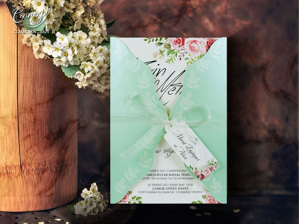 mint wedding invitations uk - weddingcardsuk.com