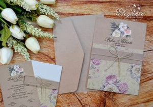 rustic vintage wedding cards - weddingcardsuk.com