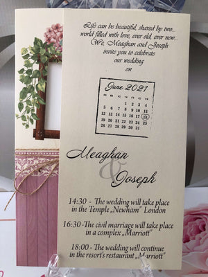 save the date floral cards - weddingcardsuk.com