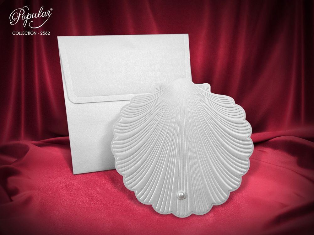 seashell wedding invitation - weddingcardsuk.com