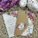 vintage floral wedding invitations - weddingcardsuk.com