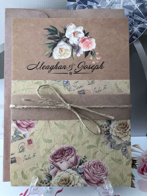 vintage rustic wedding invitations - weddingcardsuk.com