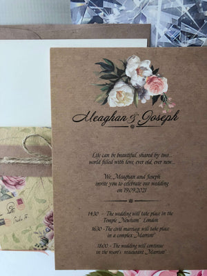 vintage rustic wedding invitations uk - weddingcardsuk.com