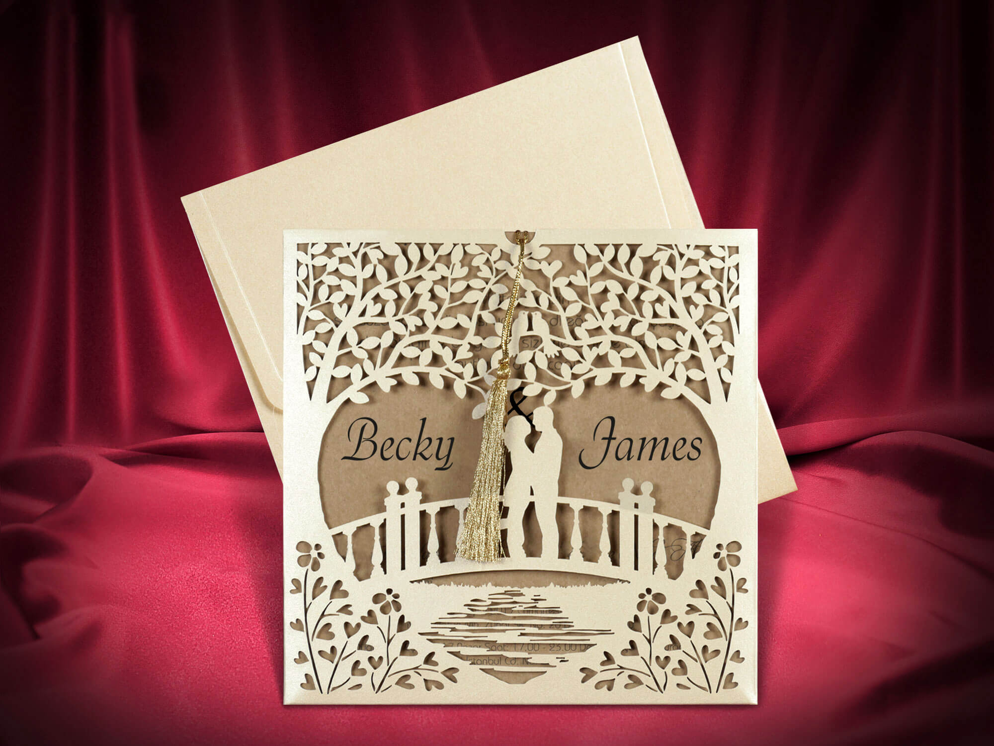 Laser Cut Tree Wedding Invitations 2680 – Wedding Cards Uk