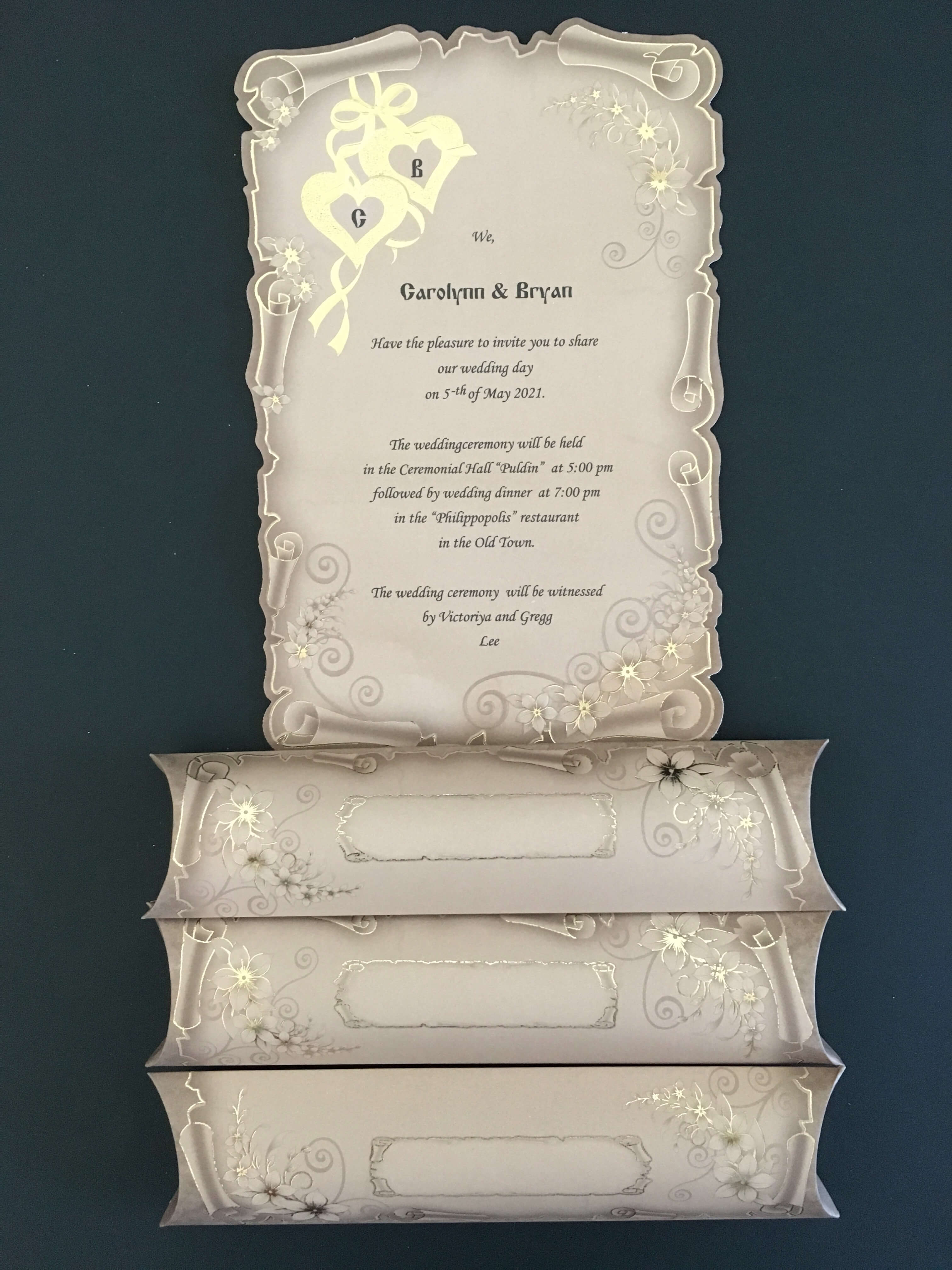 papyrus wedding cards with boxes