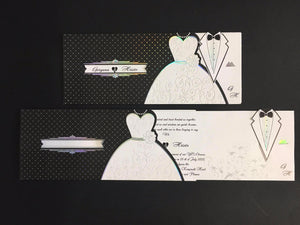 black and white wedding invitations uk