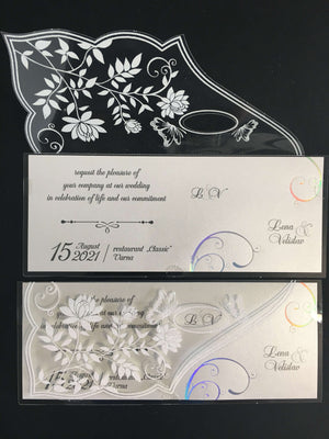 elegant acrylic wedding invitations