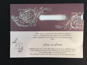 lilac asian wedding cards