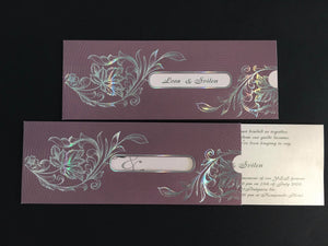 asian pocket wedding invitations