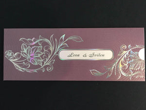 lilac asian wedding invitations