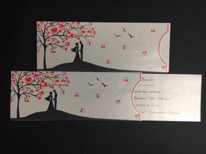 tree of hearts wedding invite