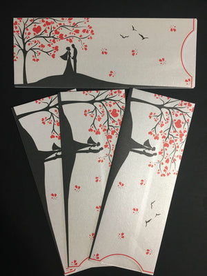 tree of heart wedding card