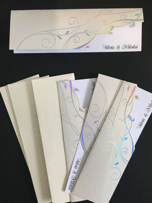 embossed wedding invitations uk