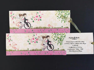 Bicycle Themed  Wedding Invitation