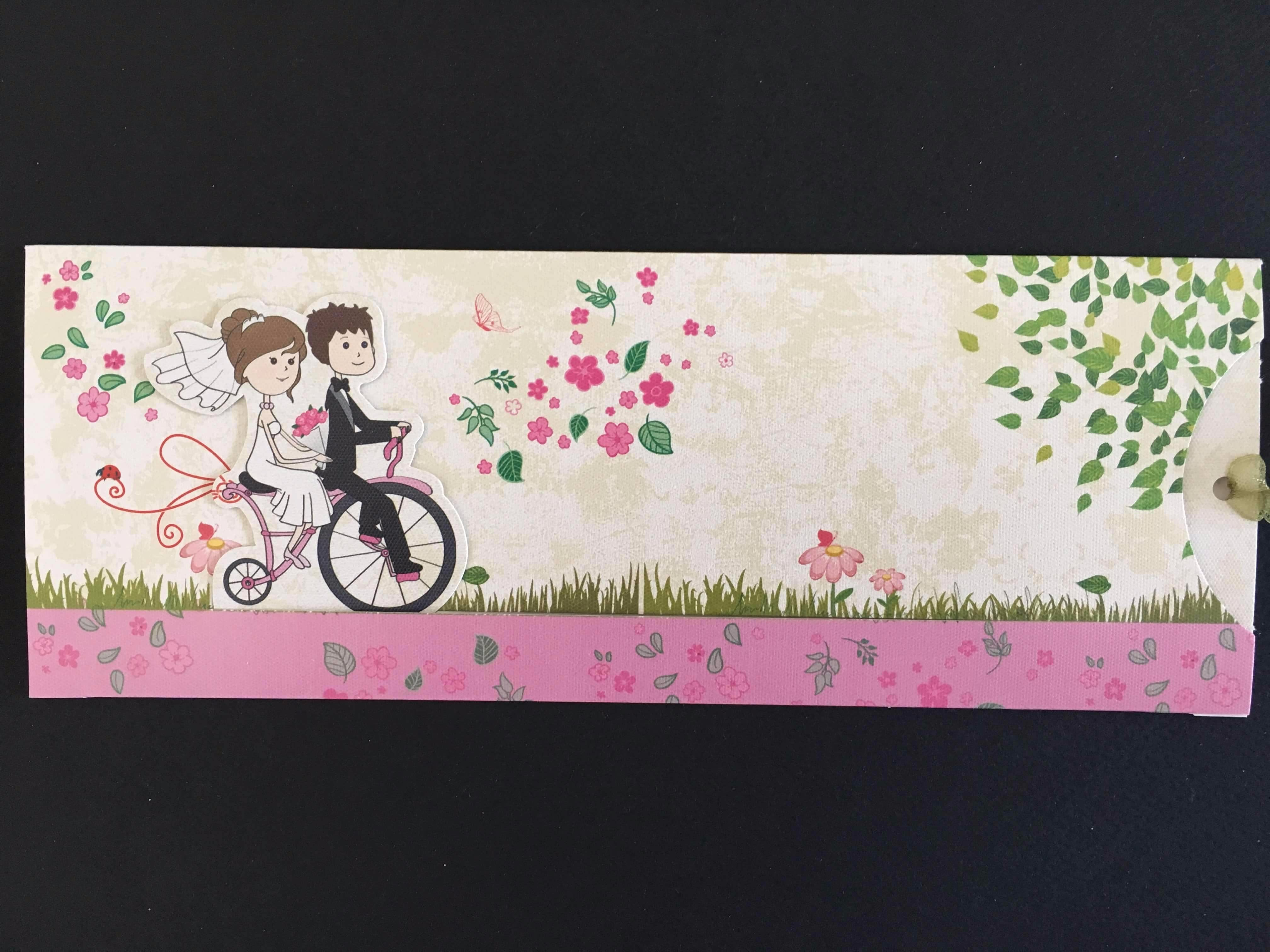 Bicycle 3D Wedding Invitation