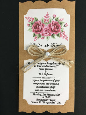 rustic lace wedding invitations uk - weddingcardsuk.com