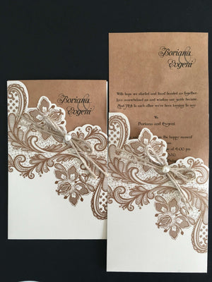 rustic wedding invitation - weddingcardsuk.com