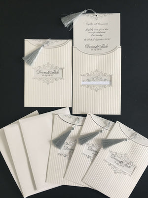 Silver Wedding Invitation UK