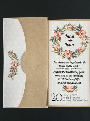 light grey vintage floral wedding cards