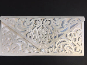 Laser Cut Envelope wedding invitations uk - weddingcardsuk.com