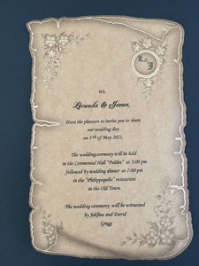papyrus wedding invitations