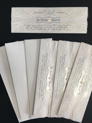 luxury acrylic wedding cards
