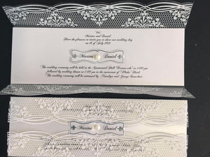 luxury acrylic wedding invitations uk