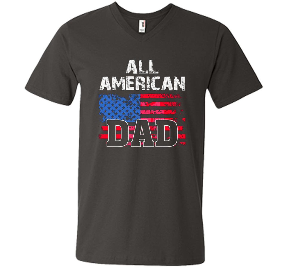 All American Dad Flag Patriotic Shirt Gift For Fathers Veteran Day t-shirt
