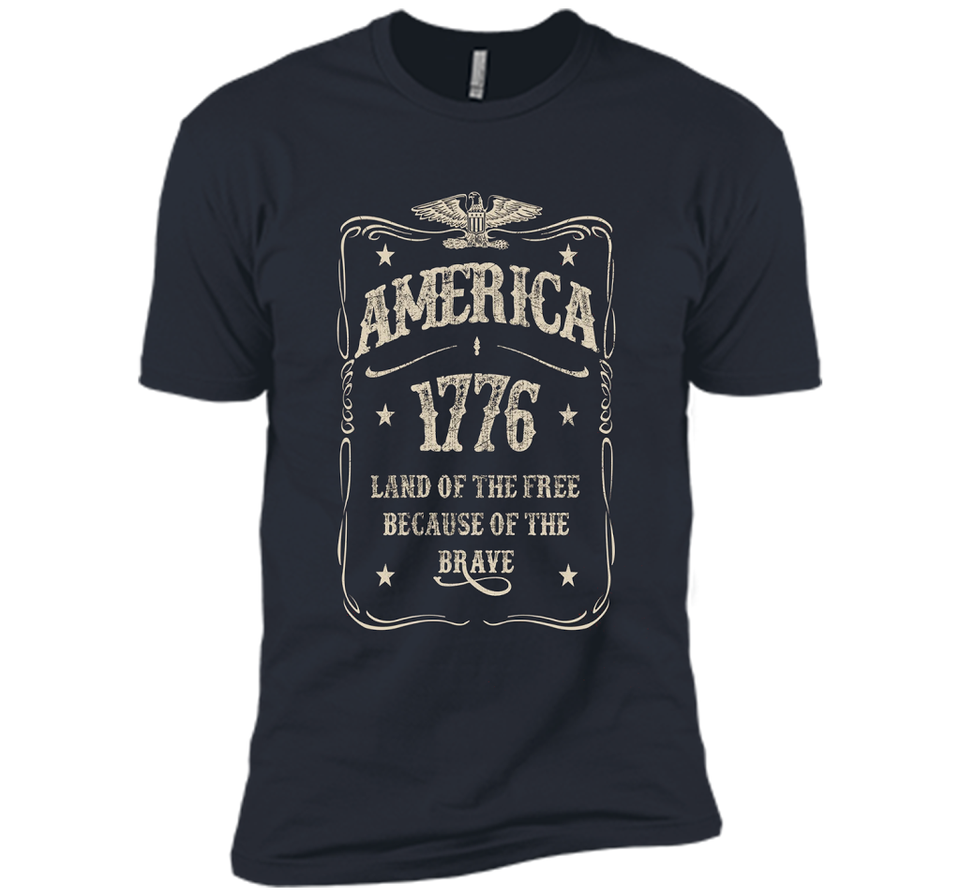 America 1776 Land Of The Free Vintage T-shirt Veteran Day great shirt