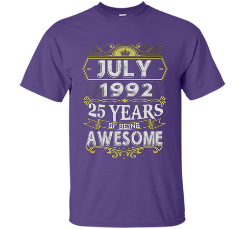 Awesome July 1992 - 25th Birthday Gifts Funny Tshirt Halloween best shirt