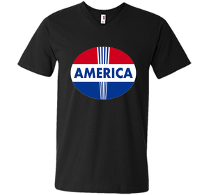 """America"" T-Shirt with Red White Blue Design Freedom Colors Veteran Day great shirt"