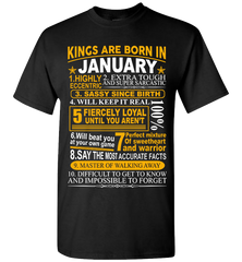 Kings are born in January, birthday men t-shirt, vintage retro birthday