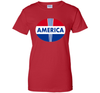 "Image of ""America"" T-Shirt with Red White Blue Design Freedom Colors Veteran Day great shirt"