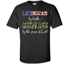 Image of American Birth National Guard Girlfriend Grace of God Shirt Veteran Day awesome tee