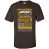 Image of Kings are born in January, birthday men t-shirt, vintage retro birthday