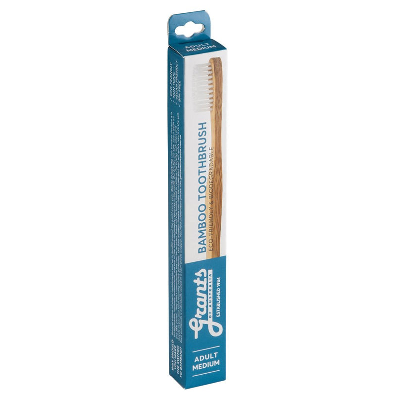 Grants Adult Bamboo Toothbrushes - Soft or Medium