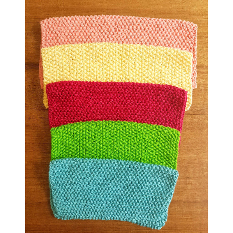 Live Eco Handmade Cotton Dishcloth/Duster/Face Washer