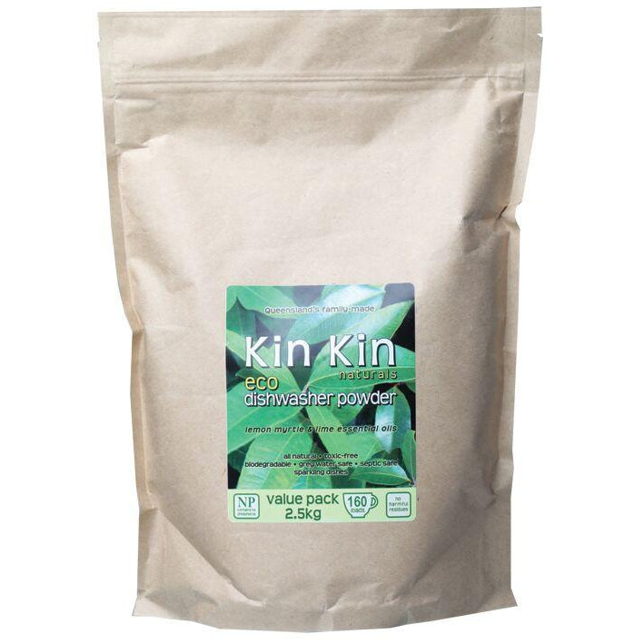 Kin Kin Dishwasher Powder Lemon Myrtle Lime - 1.1kg or 2.5kg